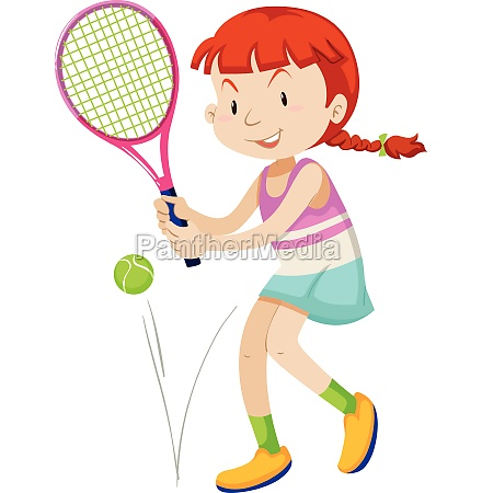woman tennis player with racket and