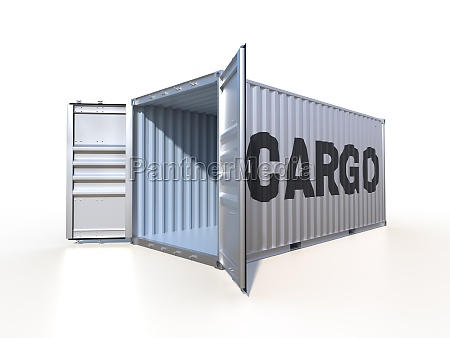 ship cargo container side view with