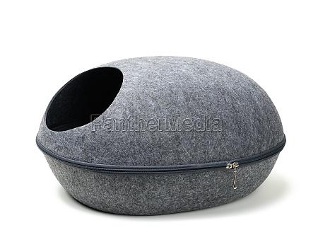 felt gray house for a cat