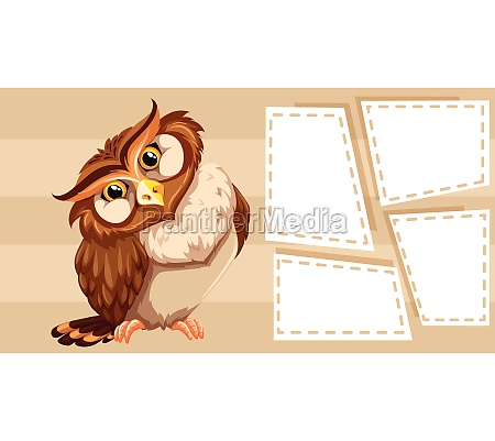 owl themed note for writing