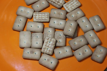 many rectangular biscuits with small pores