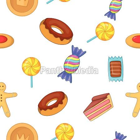 sweets pattern cartoon style