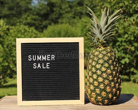 organic fresh pineapple outdoors on table