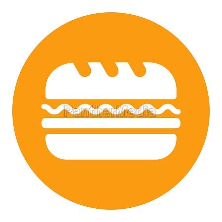 subway sandwich vector glyph icon fast