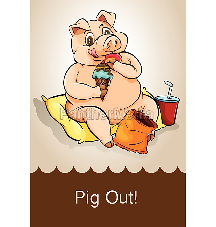english idiom pig out