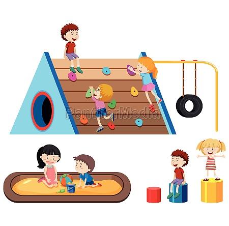 children and outdoor playground