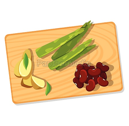differnt vegetable on chopping board