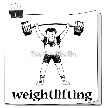 card with man doing weightlifting
