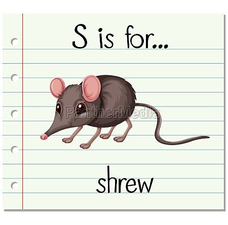 flashcard letter s is for shrew