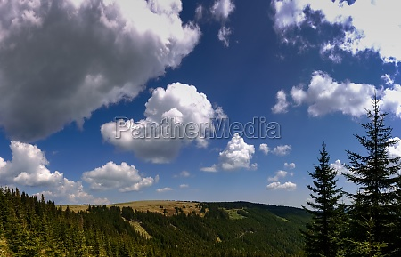 wonderful blue sky with white clouds