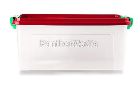 food plastic box isolated on white