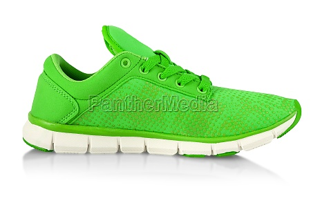green fashions women sneakers isolated on