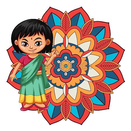 mandala pattern design background with indian