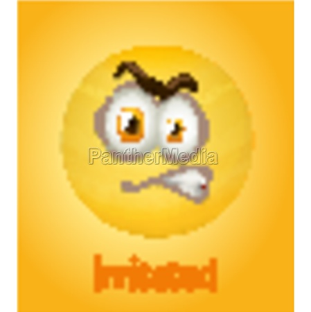 irritated faces emoji with its description