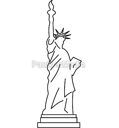 statue of liberty icon outline