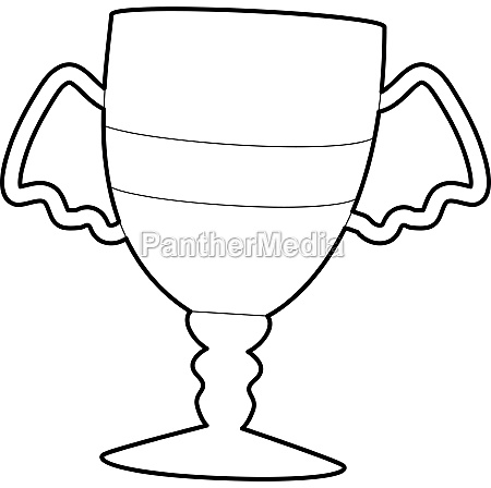 winner cup icon outline style