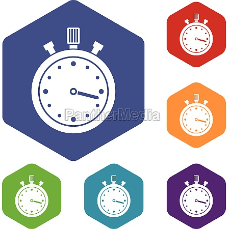 stopwatch icons set