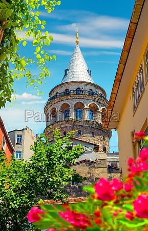 galata tower near the house