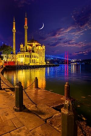 ortakoy mosque and bosphorus