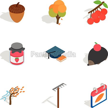 october icons isometric 3d style