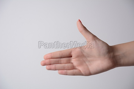 right palm hand of a young