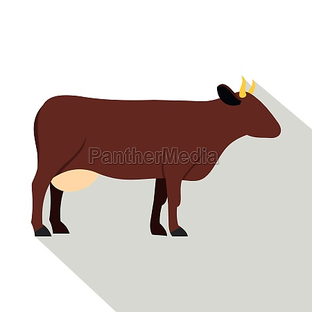 cow icon flat style