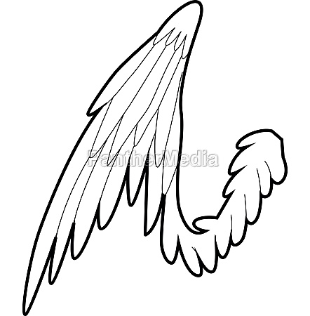 bird wing icon outline style