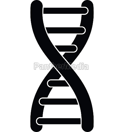 dna strand icon simple style