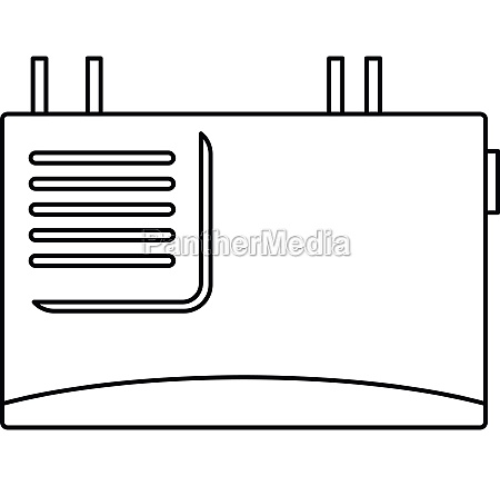 wall router icon outline style