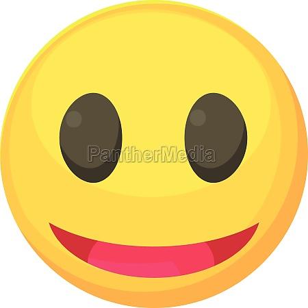smiley icon cartoon style