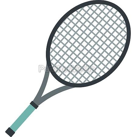tennis racket icon flat style