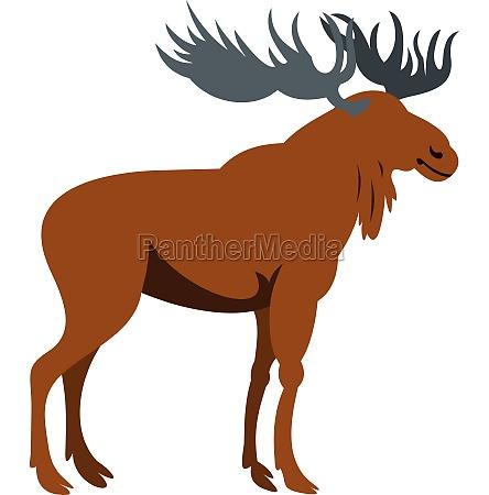 moose icon flat style
