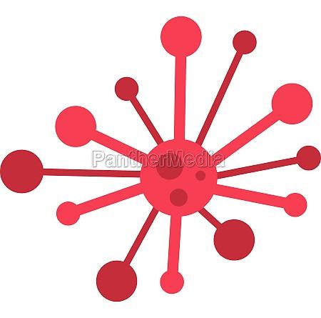 round bacteria icon flat style