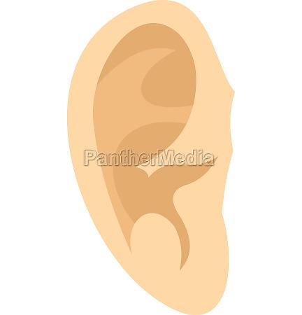 ear icon flat style