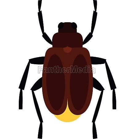 harvest bug icon flat style