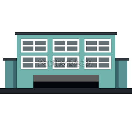 manufacturing factory building icon flat style