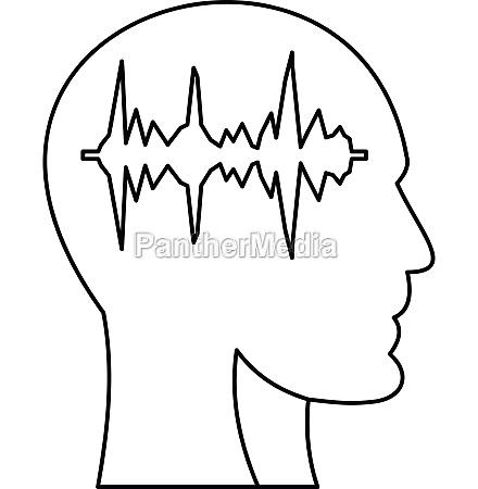 equalizer inside human head i icon