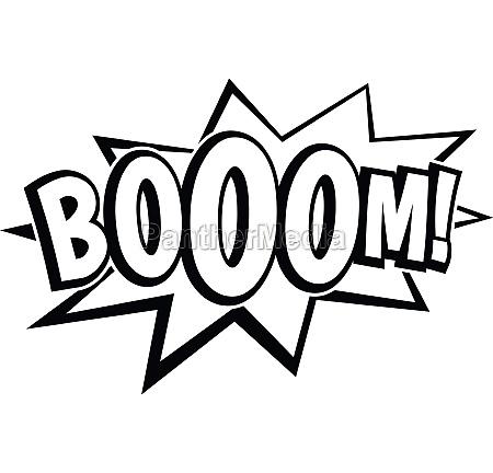 boom explosion bubble icon simple style