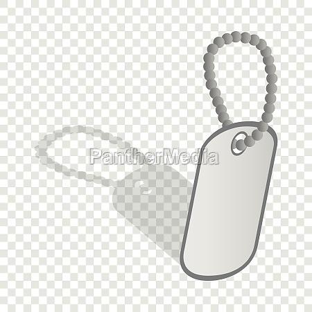 identification army badge isometric icon
