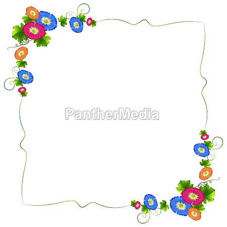 a border design with fresh colorful