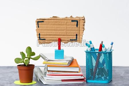tidy workspace setup writing desk tools