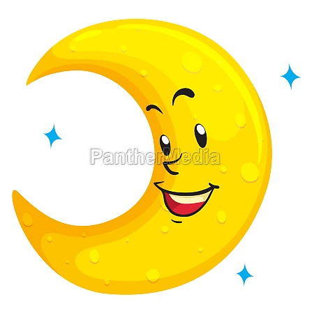 moon with happy face