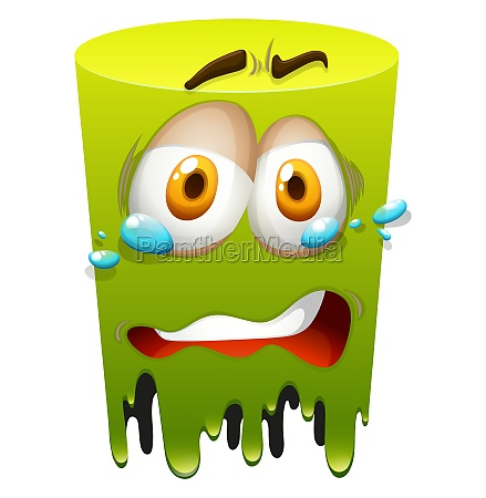 crying face on green
