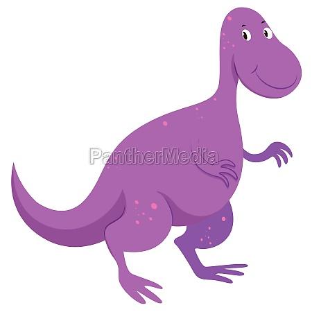 purple dinosaur with happy face