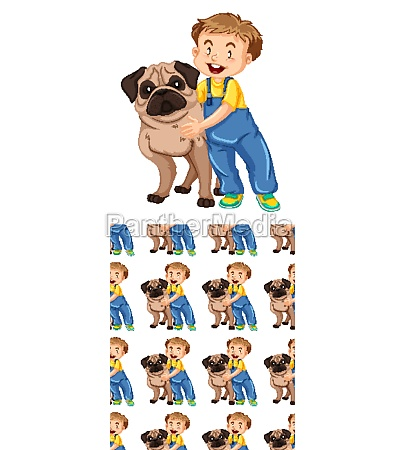 seamless background design with dog and