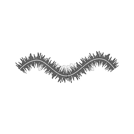 equalizer and sound effect ilustration logo