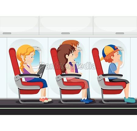 passenger on the plane