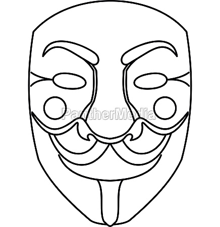 crime mask icon outline style