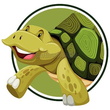 turtle on sticker template