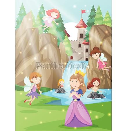 a princess in fantasy land